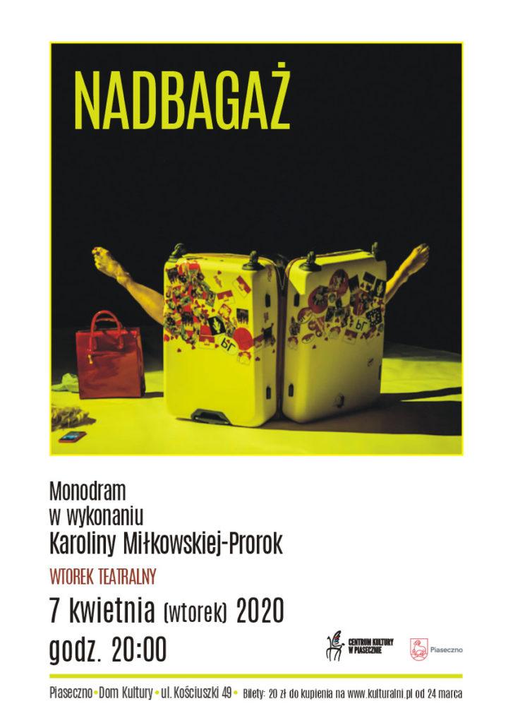 teatralny PLAKAT 2020 NADBAGAZ