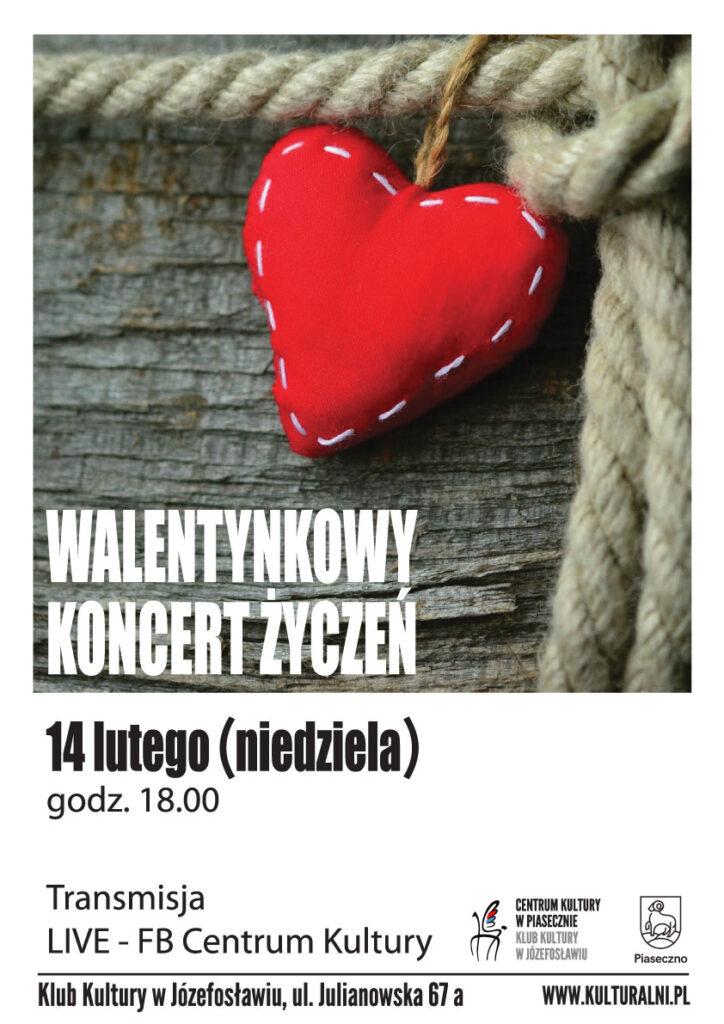 Plakat wydarzenia Walentynkowy koncert życzeń