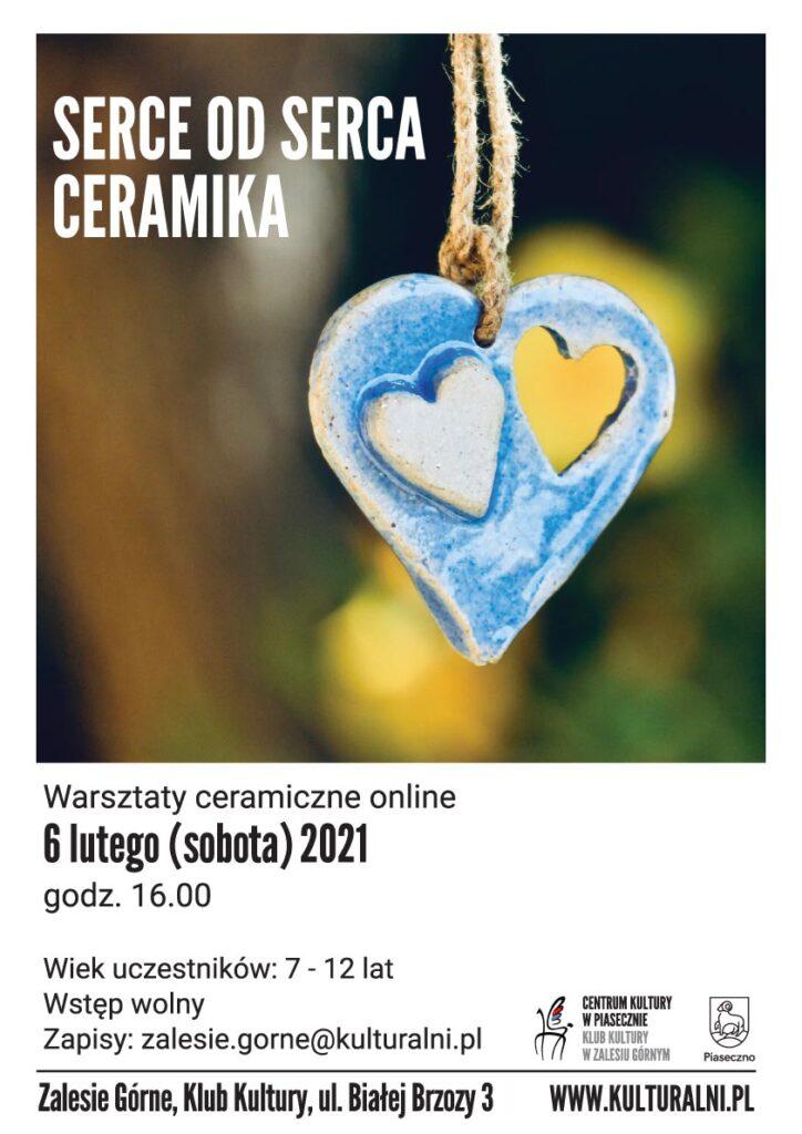 Plakat wydarzenia SERCE ODSERCA. CERAMIKA Warsztaty online