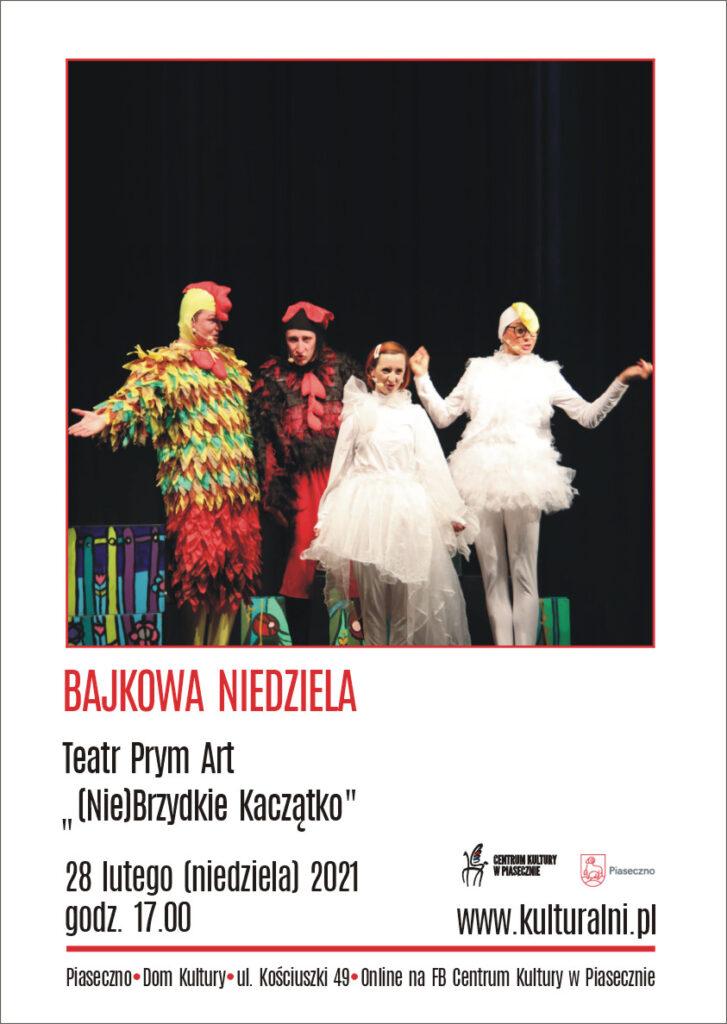 """Plakat wydarzenia Bajkowa Niedziela """" (Nie) Brzydkie Kaczątko"""""""