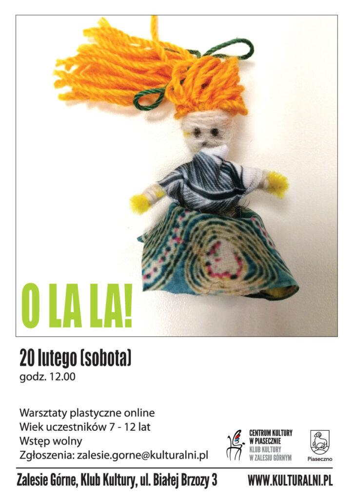 Plakat wydarzenia OLA LA! Warsztaty plastyczne online