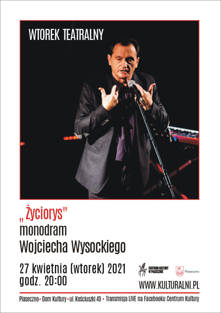 Plakat wydarzenia wtorek teatralny