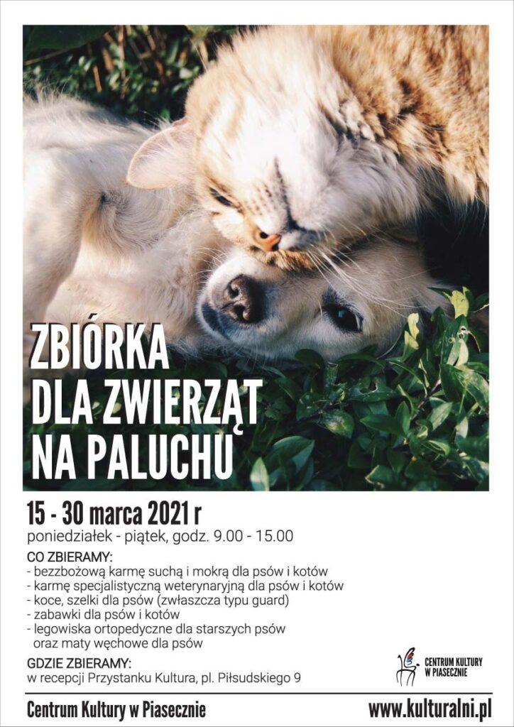 Zbiórka dla zwierząt naPaluchu - plakat