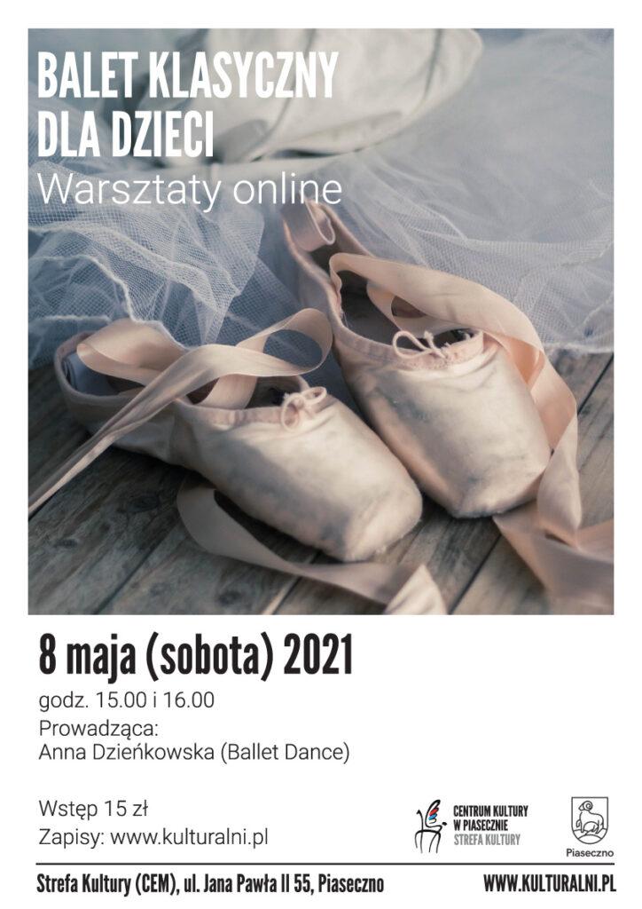 Plakat wydarzenia Balet klasyczny dla dzieci