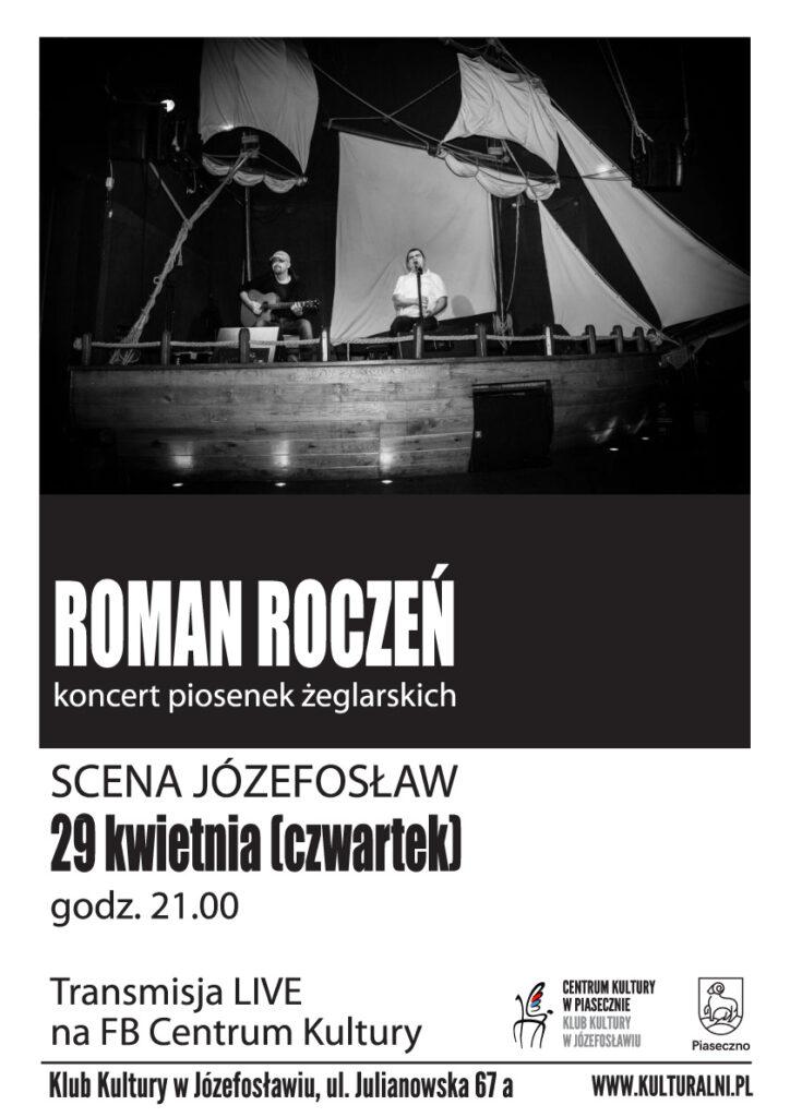 Plakat wydarzenia SCENA JÓZEFOSŁAW ROMAN ROCZEŃ - koncert piosenek żeglarskich