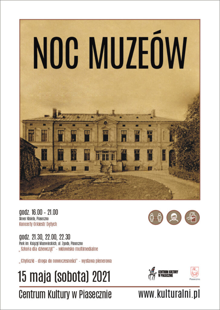 Plakat wydarzenia Noc Muzeów
