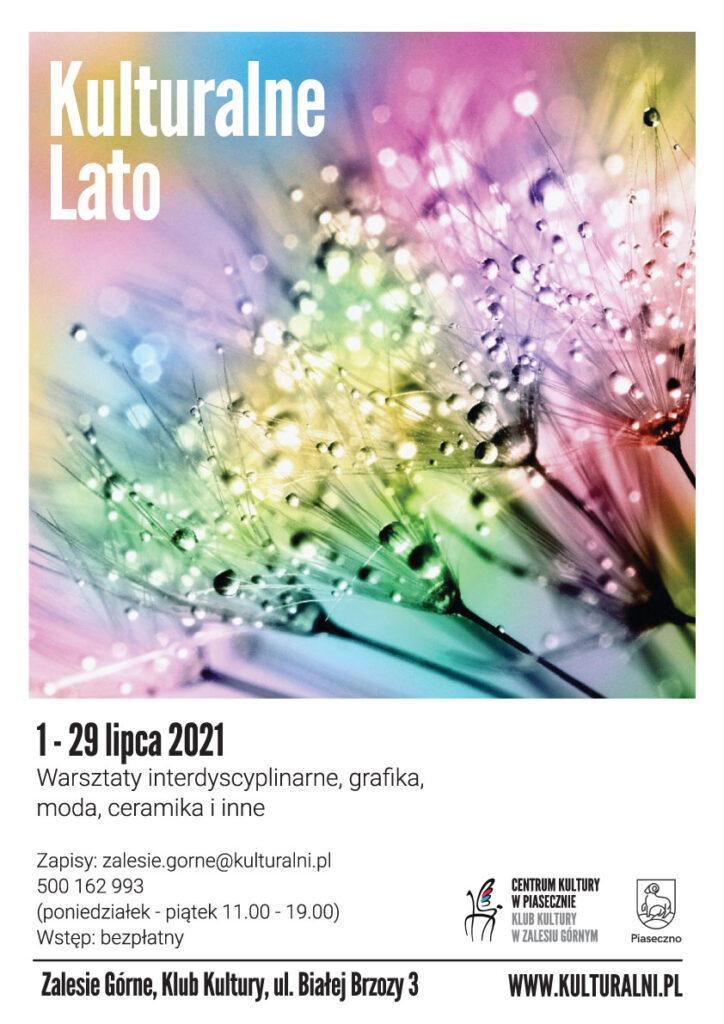 Plakat wydarzenia Kulturalne Lato - KK wZalesiu Górnym