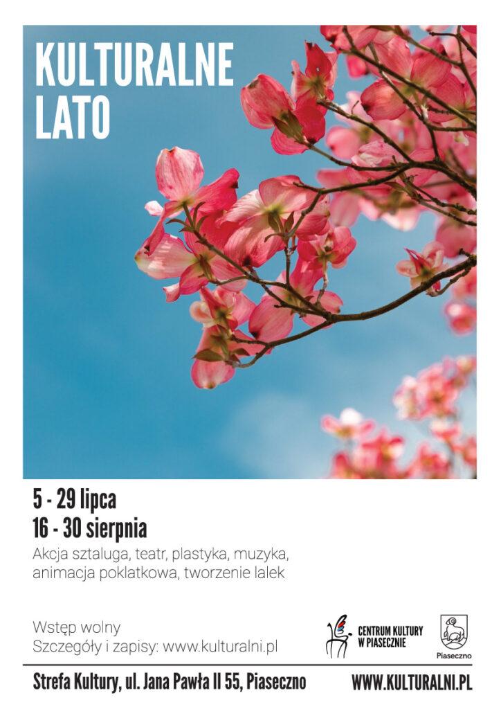 Plakat wydarzenia Kulturalne Lato - Strefa Kultury