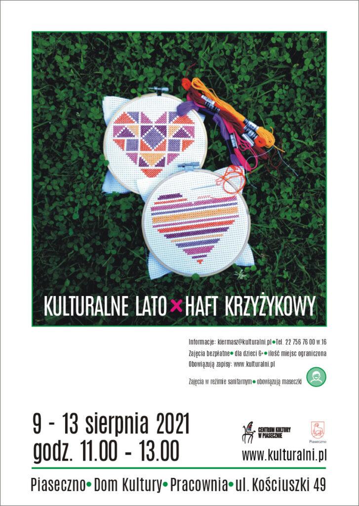 Plakat wydarzenia Kulturalne Lato Haft Krzyżykowy