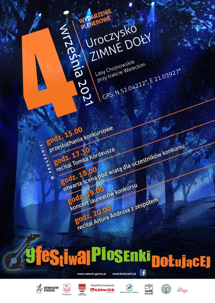 plakat wydarzenia IX Festiwal Piosenki Dołującej