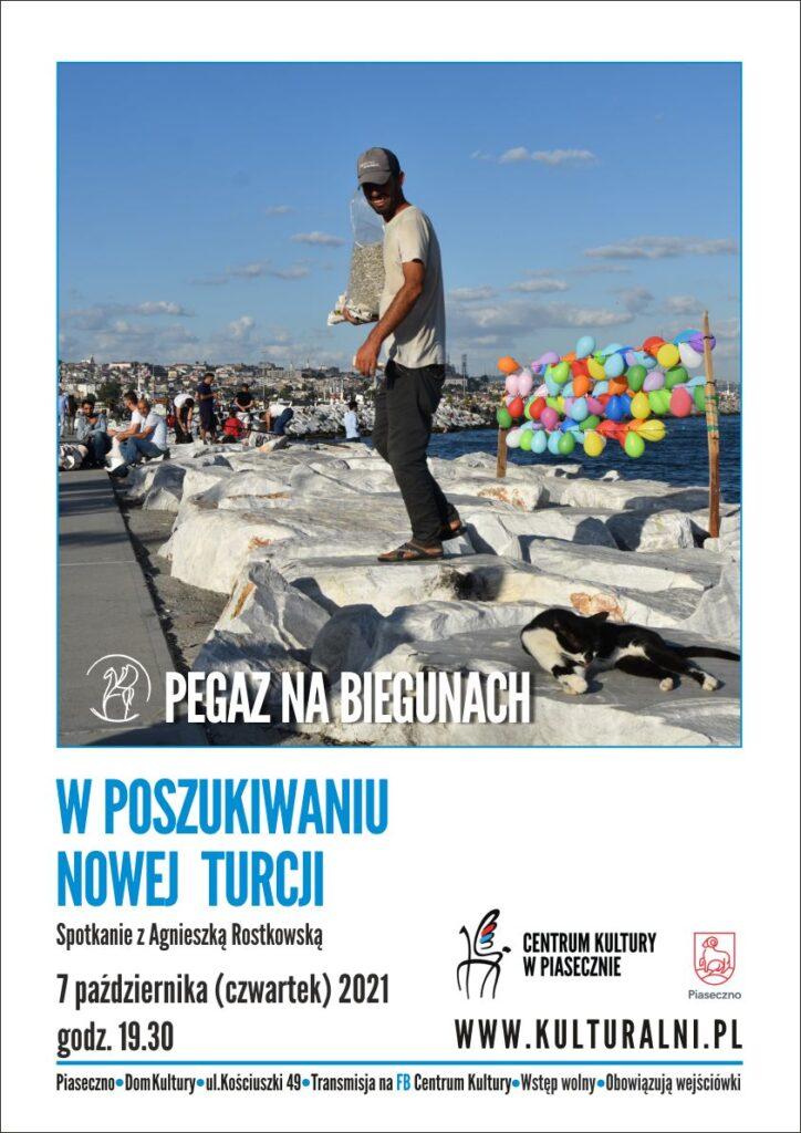 Plakat wydarzenia Pegaz nabiegunach. Wposzukiwaniu Nowej Turcji