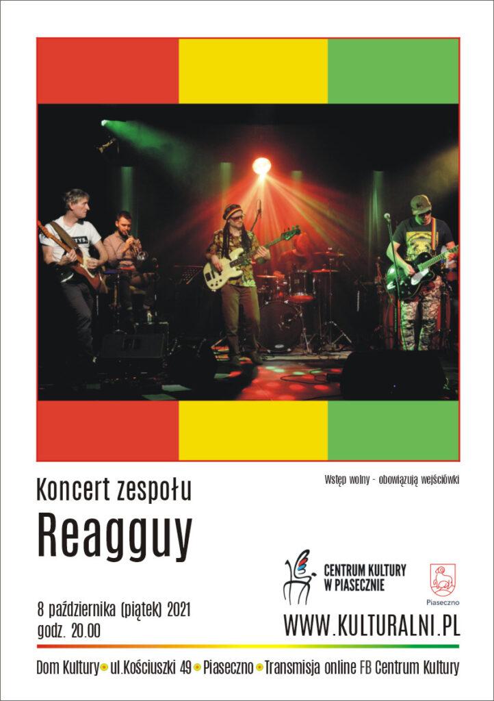 plakat wydarzenia koncert zespołu reagguy