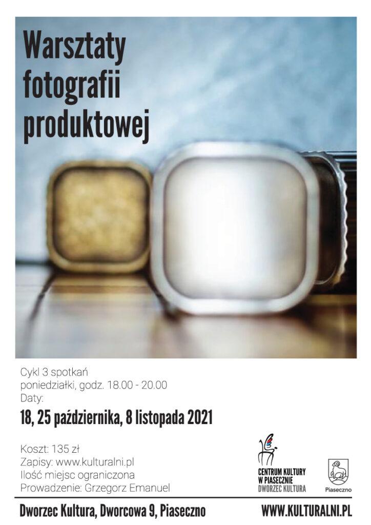 Plakat wydazrzenia warsztaty fotografii produktowej