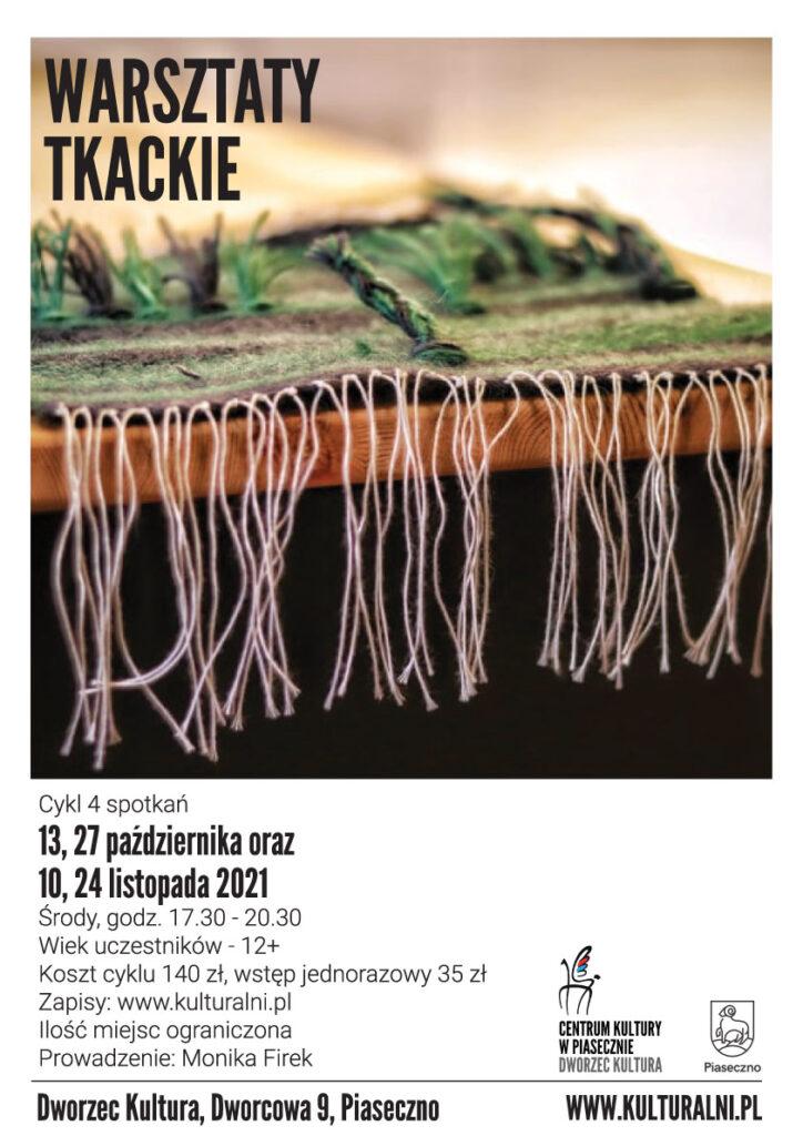 Plakat wydarzenia warsztaty tkackie