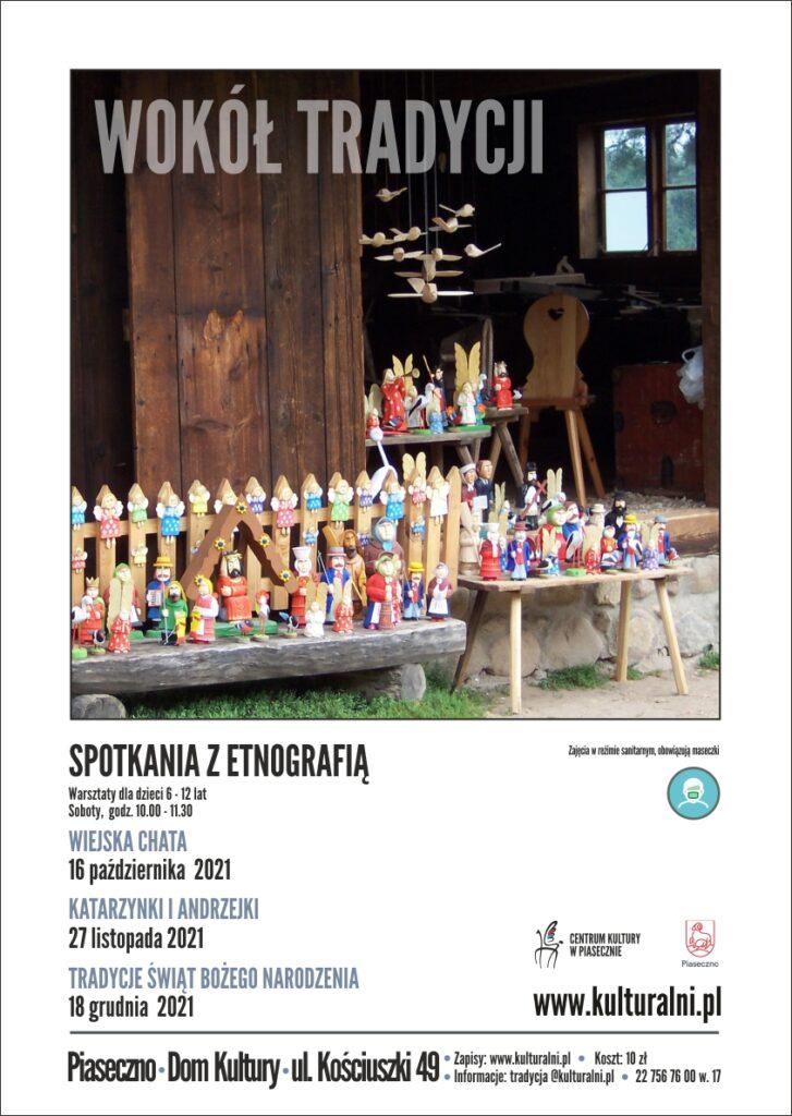 Plakat wydarzenia Wokół Tradycji. Spotkania zetnografią dla dzieci